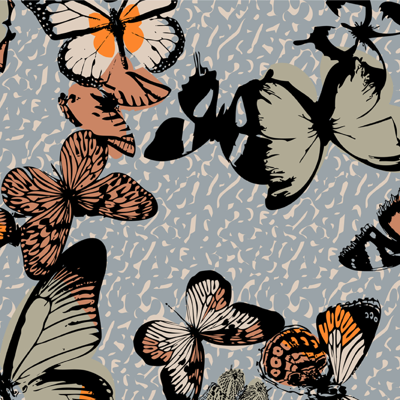 Autumn Romance  butterfly fashion print | SOLD