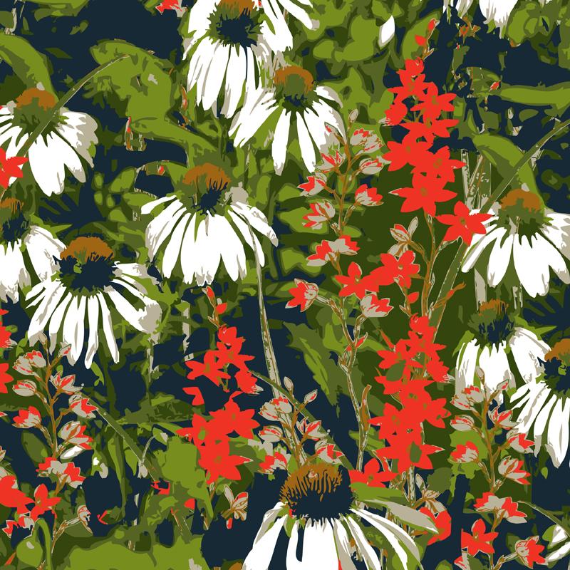 Gretal  floral fashion print | SOLD