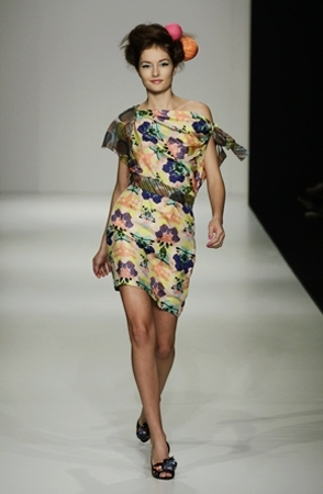 Ink blot print on the Mad Cortes runway at Sydney Fashion week