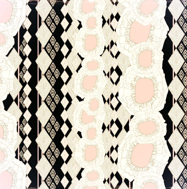 Pollyanna  retro floral stripe fashion printm | SOLD
