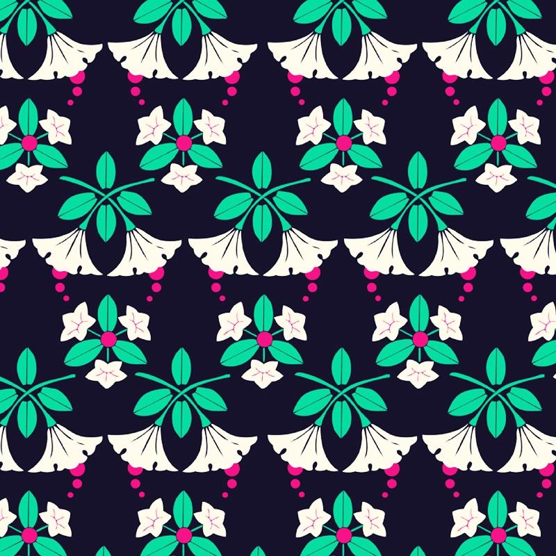 Black Forest  floral folk fashion print | SOLD