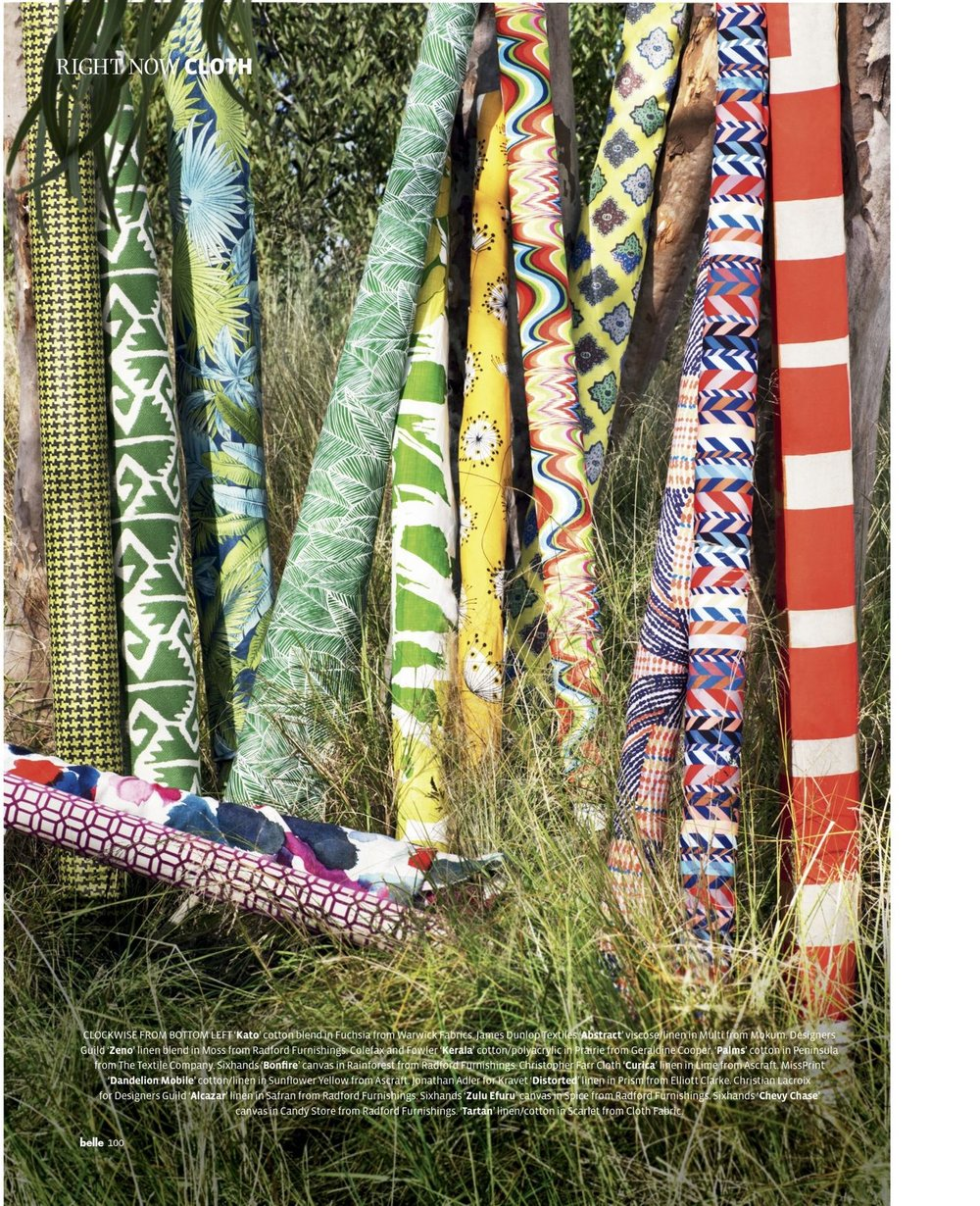 Bonfire, Zulu Efuru & Chevron fabrics featured in Belle