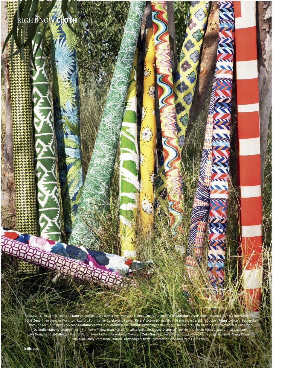 Bonfire, Zulu Efuru & Chevron fabrics featured in Belle