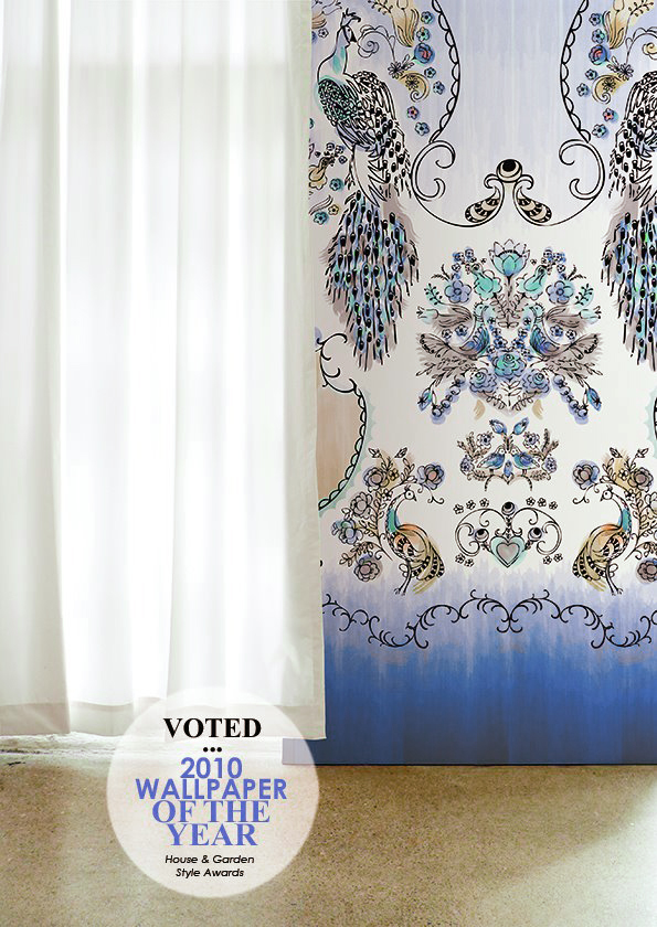 Eden Ming Wallpaper. Winner of the House & Garden Style Awards wallpaper of the year in 2010.
