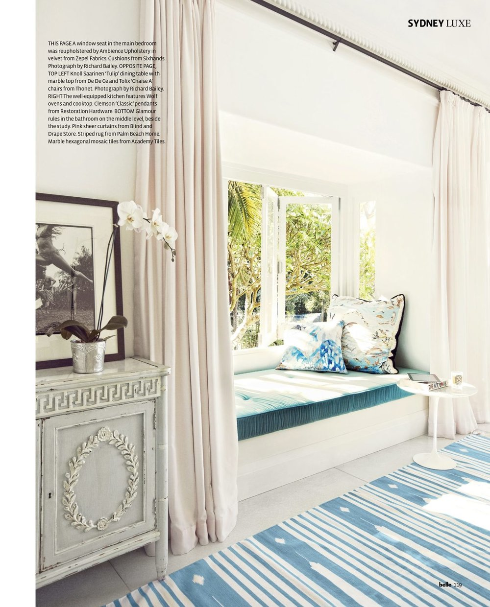 Accent cushion featured in BKH designed interior shown in Belle