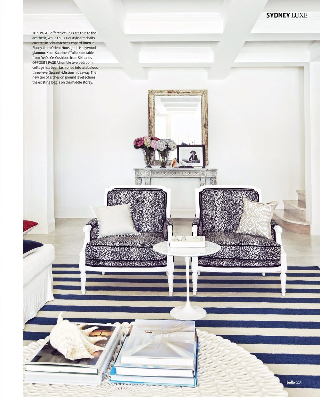 Jasmina accent cushion featured in BKH designed interior shown in Belle