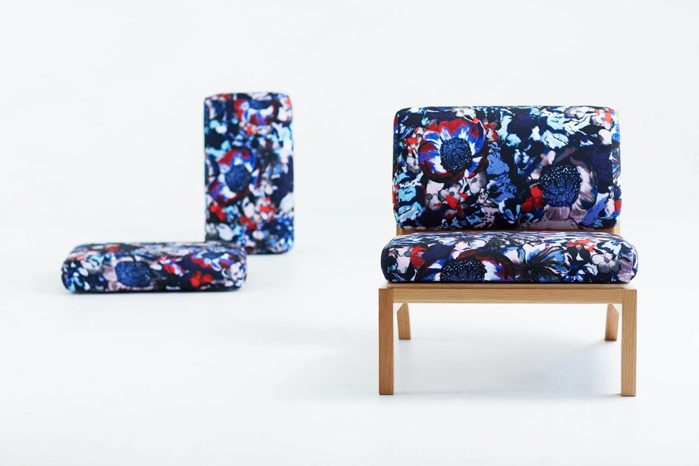 Felicity design upholstery in Patriot colourway