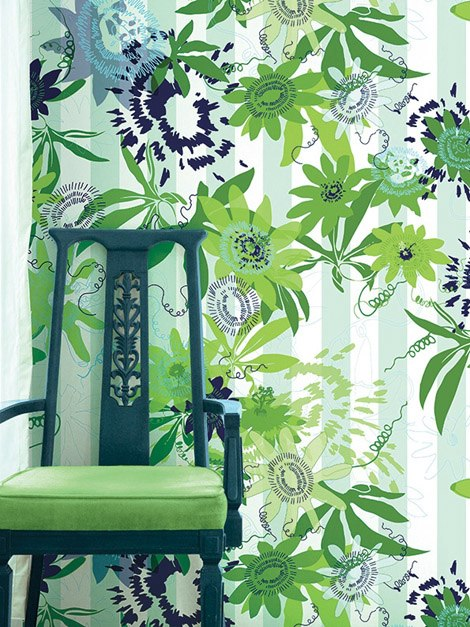 PassionFlower wallpaper in rainforest