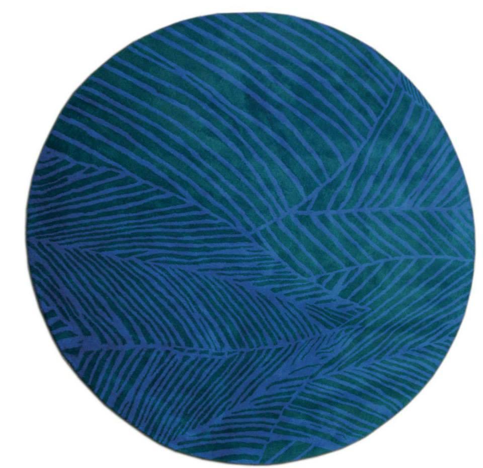 Bonfire circular tufted rug