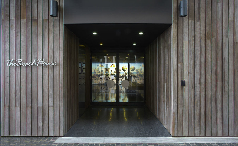 A custom designed lightbox mural was commissioned by Burley Katon Halliday for the lift entry foyer of luxury waterfront BeachHouse developement at Bondi Beach in Sydney