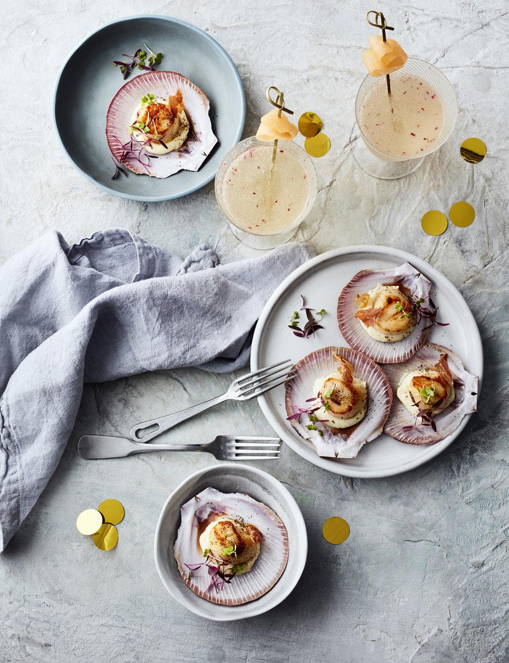 festive feasting scallops