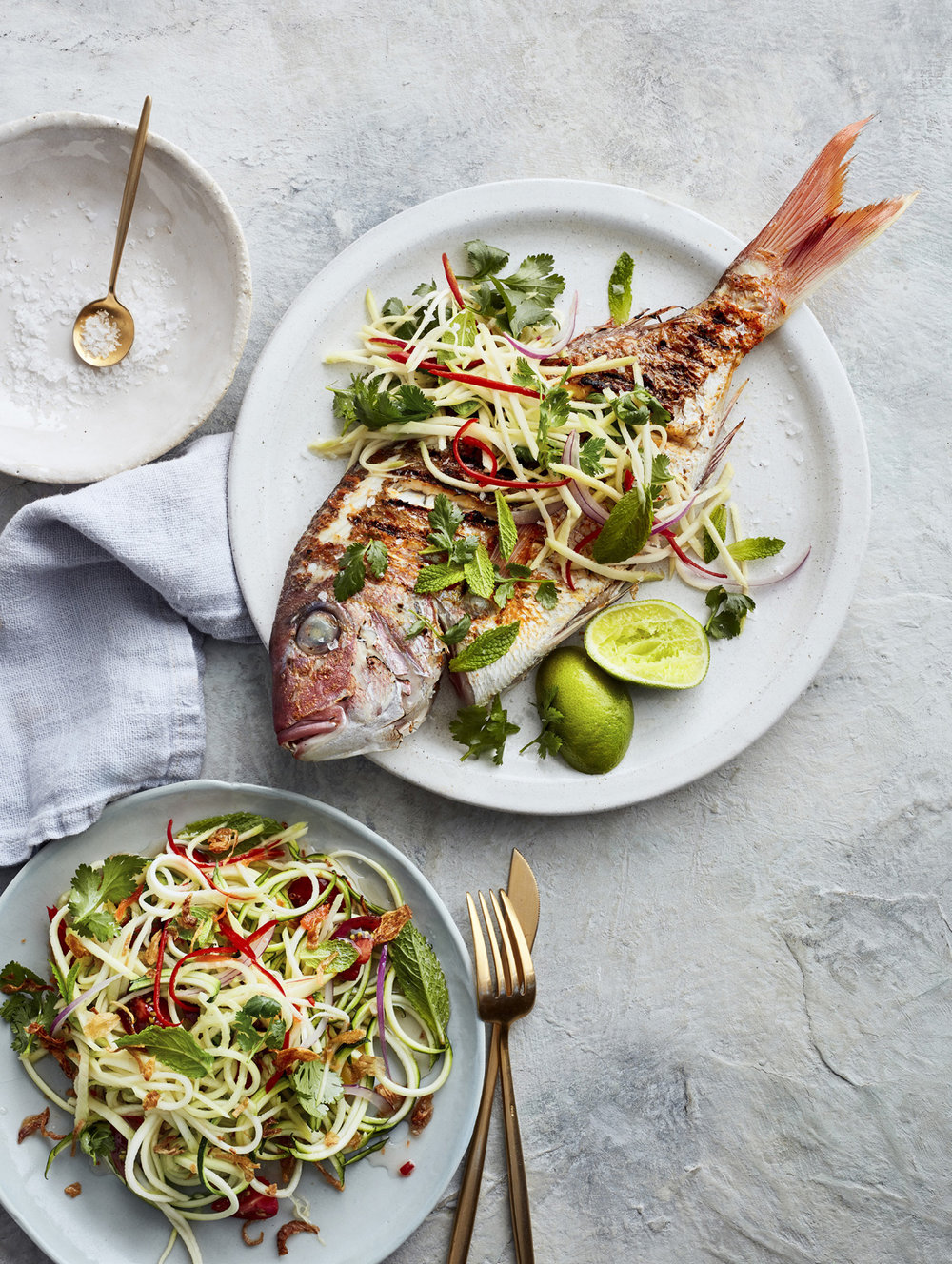festive feasting zoodle snapper