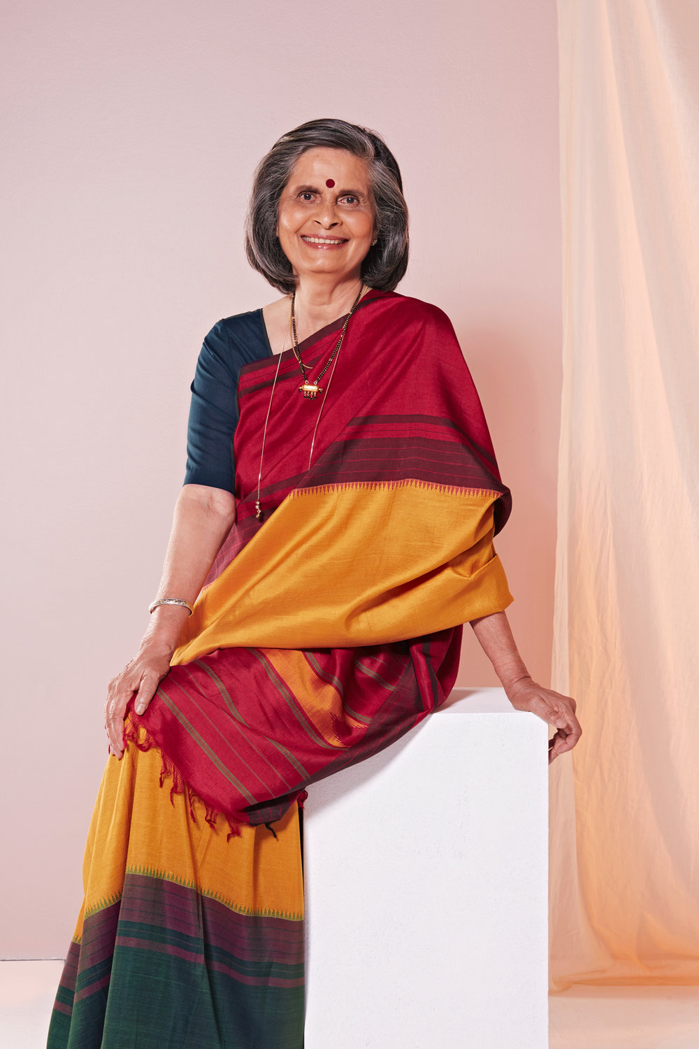 Gladys survived 50 rounds of radiation therapy to become an active figure in The Pink Sari Project.