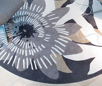 Cornucopia rug in custom grey colourway