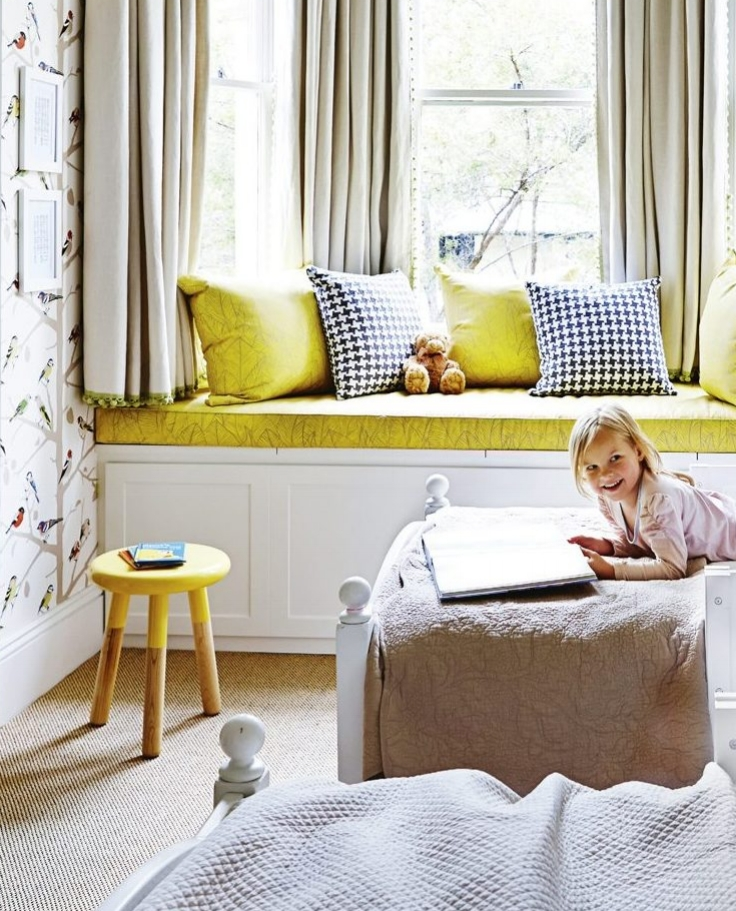 Bonfire cushions and window seat featured in House & Garden