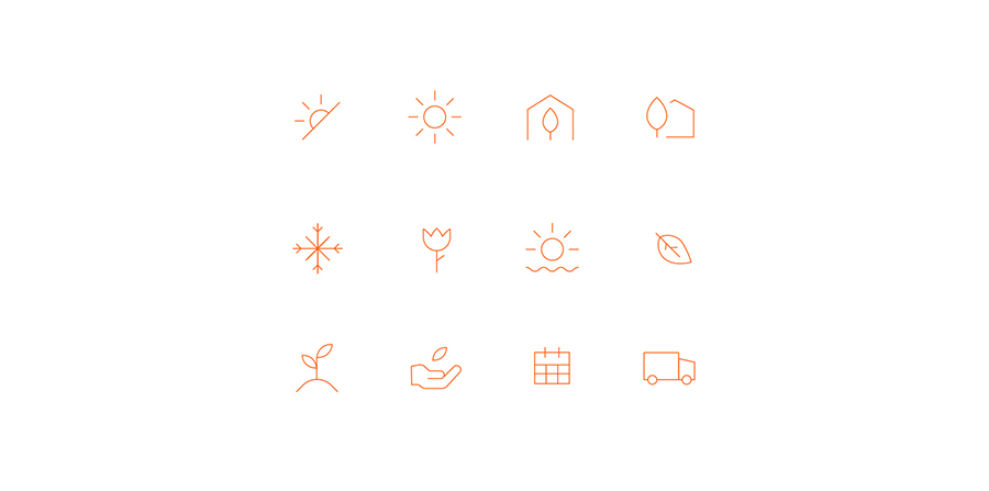 Icon set for Gardenuity website by Gen Design Studio