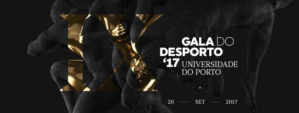 Gala do Desporto U.Porto 2017 — event identity by Gen Design Studio
