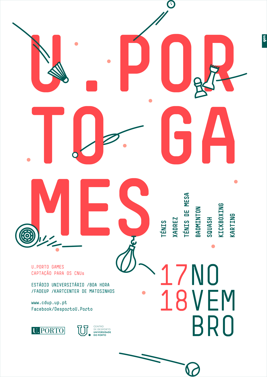 U.Porto Games event poster by Gen Design Studio