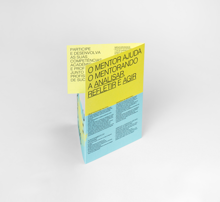 Mentorias UMinho brochure by Gen Design Studio
