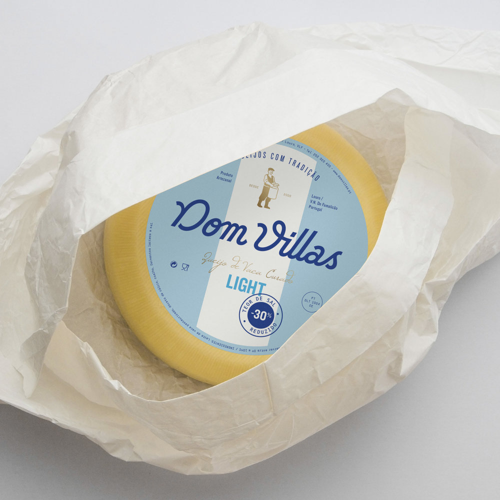 Cheeses Dom Villas identity and packaging by www.gen.pt