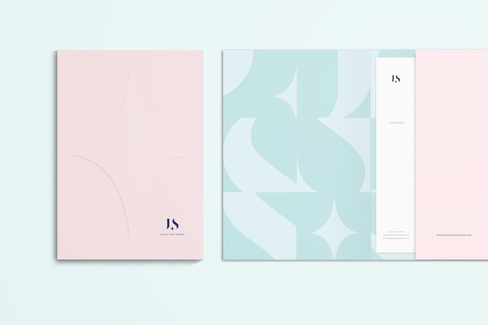 Joana Silva Makeup folder by Gen Design Studio