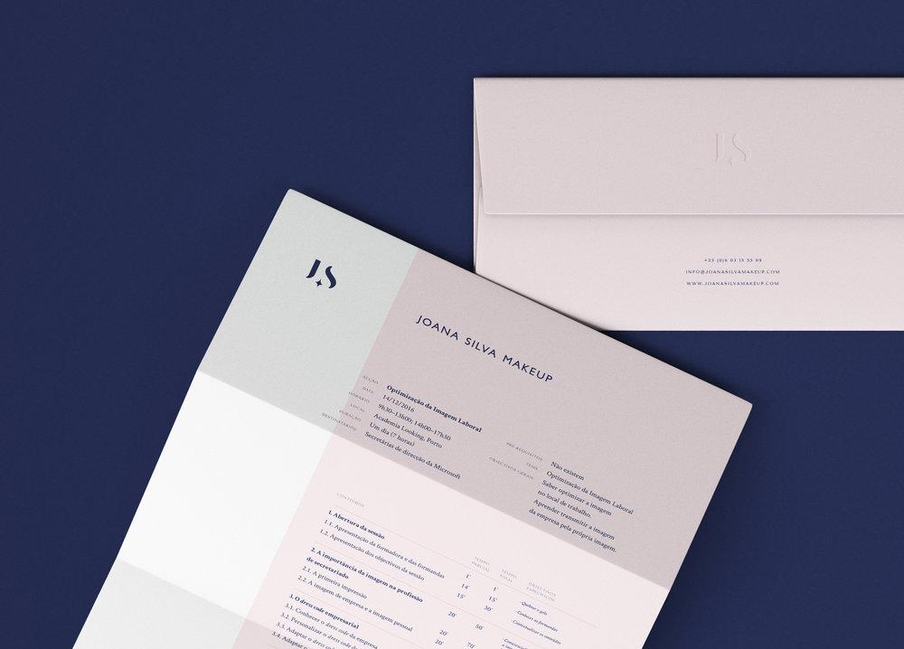 Joana Silva Makeup letterhead by Gen Design Studio