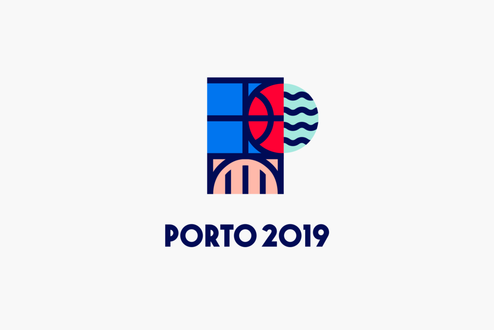 EUC 3x3 Basketball Porto 2019, logo proposal by Gen design studio