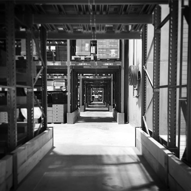 Flatpack madness #ikea #ikeasheffield #warehouse #perspective #blackandwhite #furniture