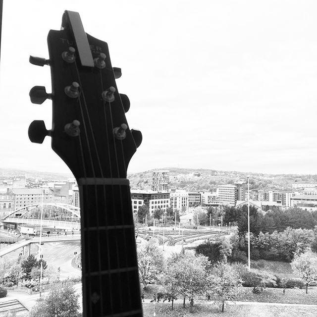 #sheffield #guitar #noreason #city #view #acousticguitar #blackandwhite