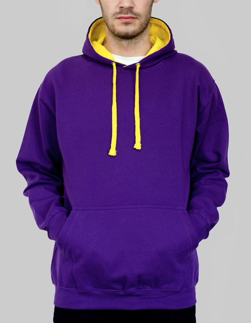 Contrast Hoodie   Unisex / 280gsm / 28 Colours