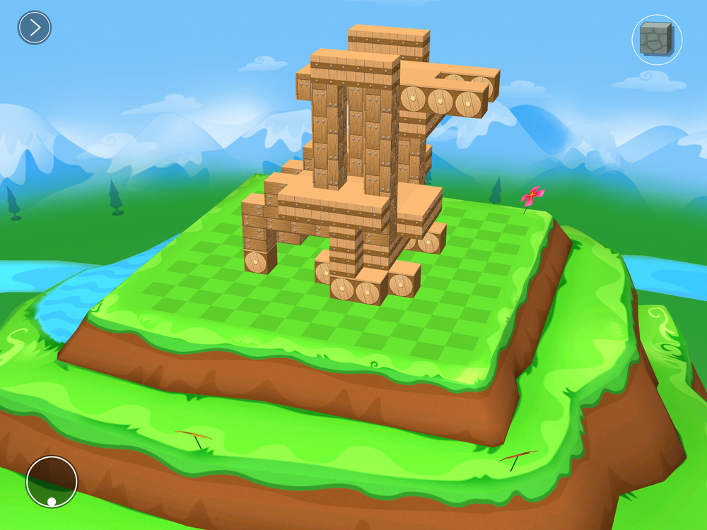 A screenshot of the Castle Environment with 3D creation.