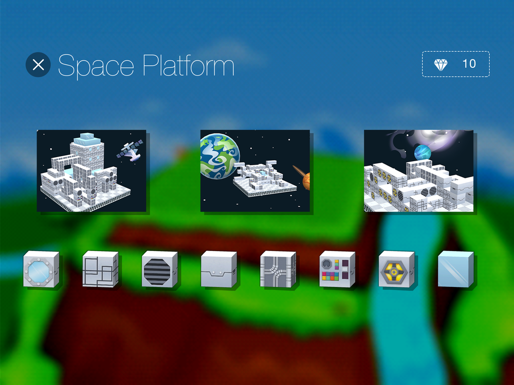 A screenshot of how the Space Platform Kit appears in the store within the app.