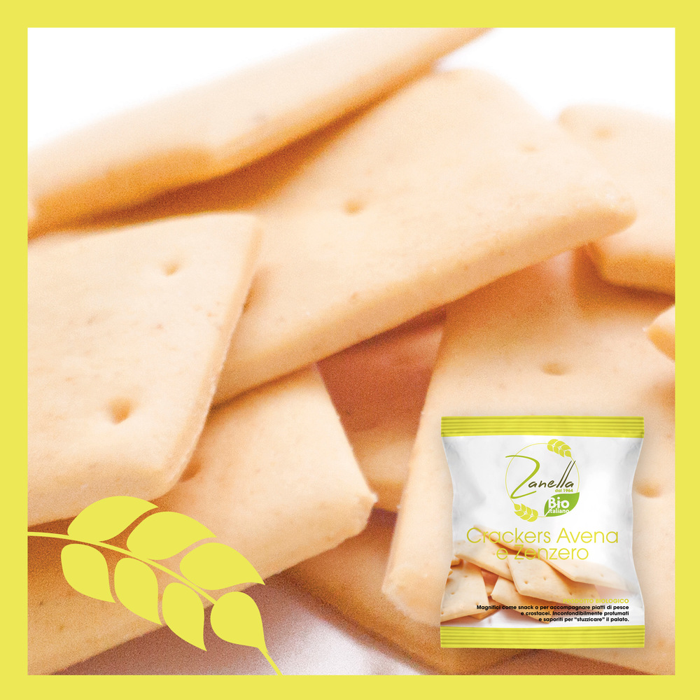 Crackers con Avena e Zenzero