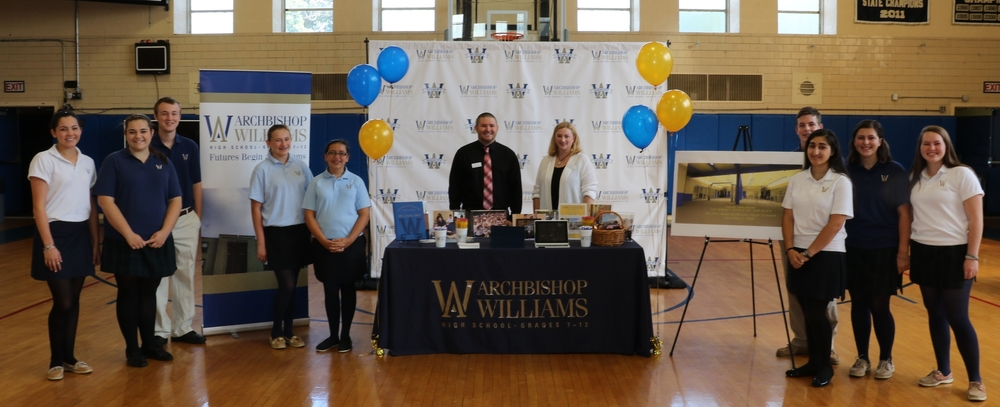 Members of the AWHS Admissions Staff and Student Admission Representatives at a recent School information fair.