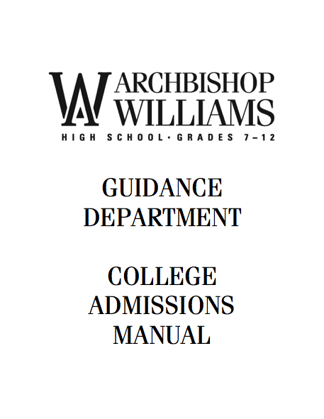 DownLoAD AWHS GUIDANCE COLLEGE ADMISSIONS MANUAL