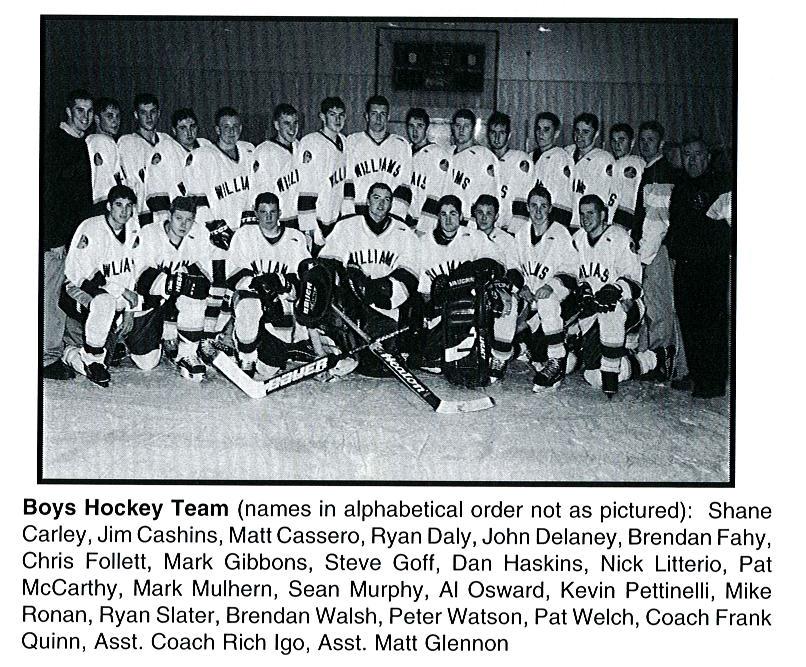 2001 Bishops Hockey Team