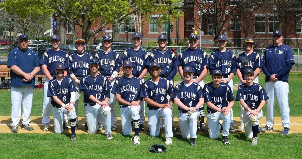 Head Baseball Coach James Dolan (far left) with the 2016 Bishops Varsity Baseball Team, Dolan was recently also named Head Basketball Coach.