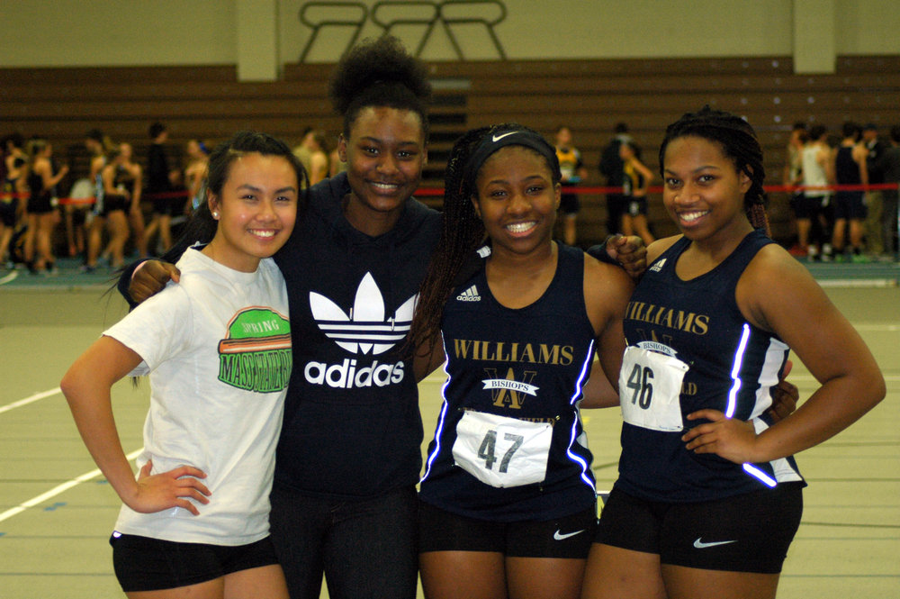 Track Stars: Ashley Tran, Ruth LaBranche '17, Chigozie Sumani, Darnelle Stinfort