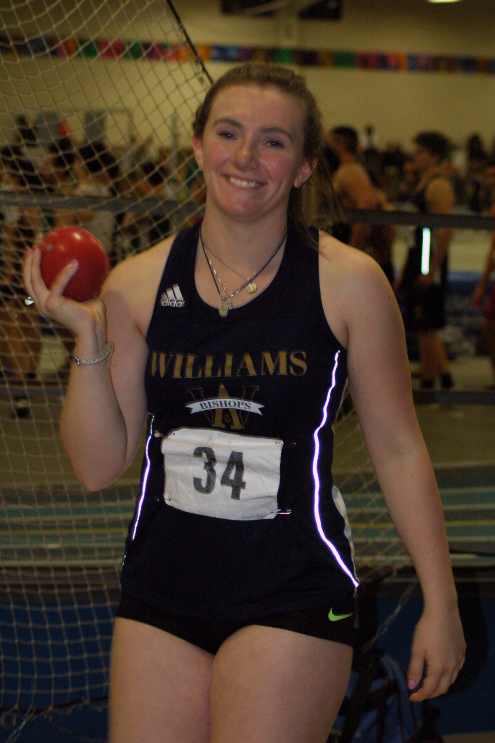 Senior Julia McRoberts of Hanover was the leading shot putter in the Tri-County League, and finished her second consecutive season undefeated.