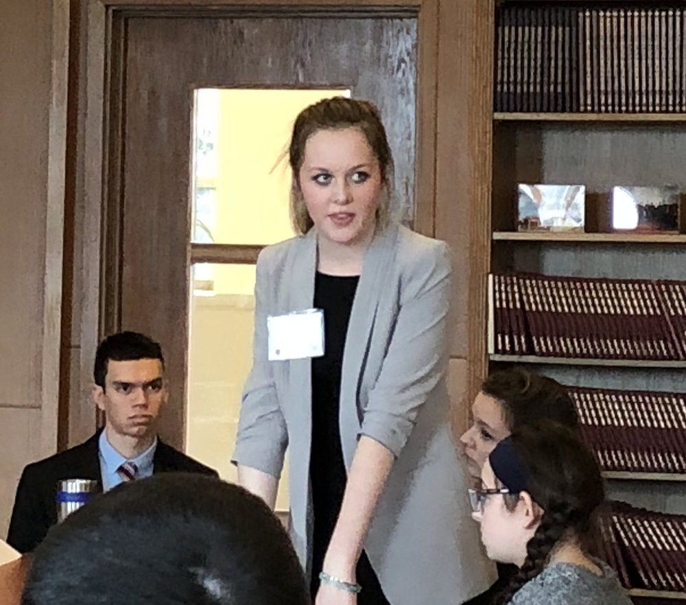 "Junior Joanna (""Josie"") Gordon attended her first MUN Conference as the delegate from Brazil for the Committee on Genocide in Myanmar."