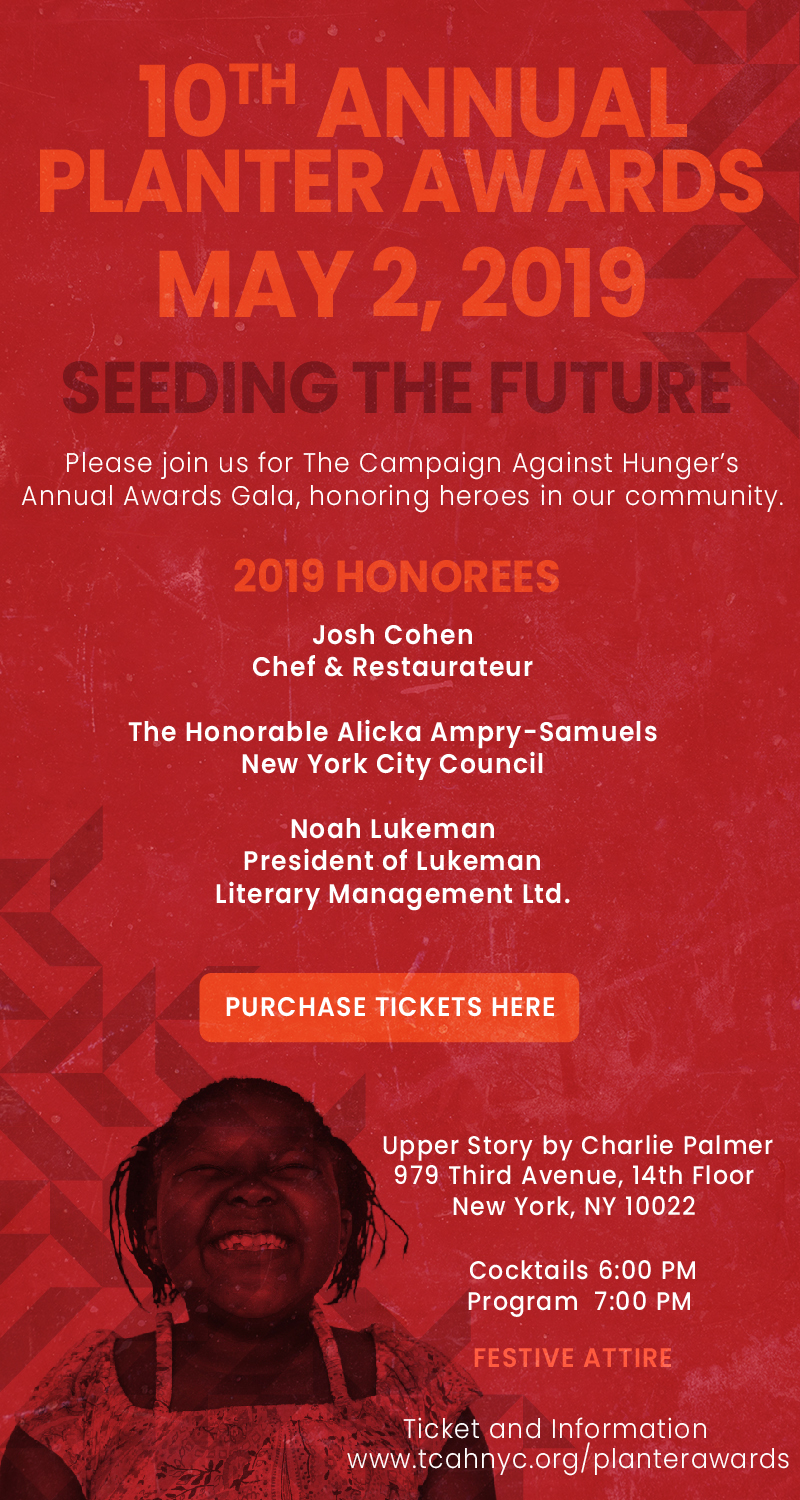 Purchase your tickets at  www.tcahnyc.org/planterawards