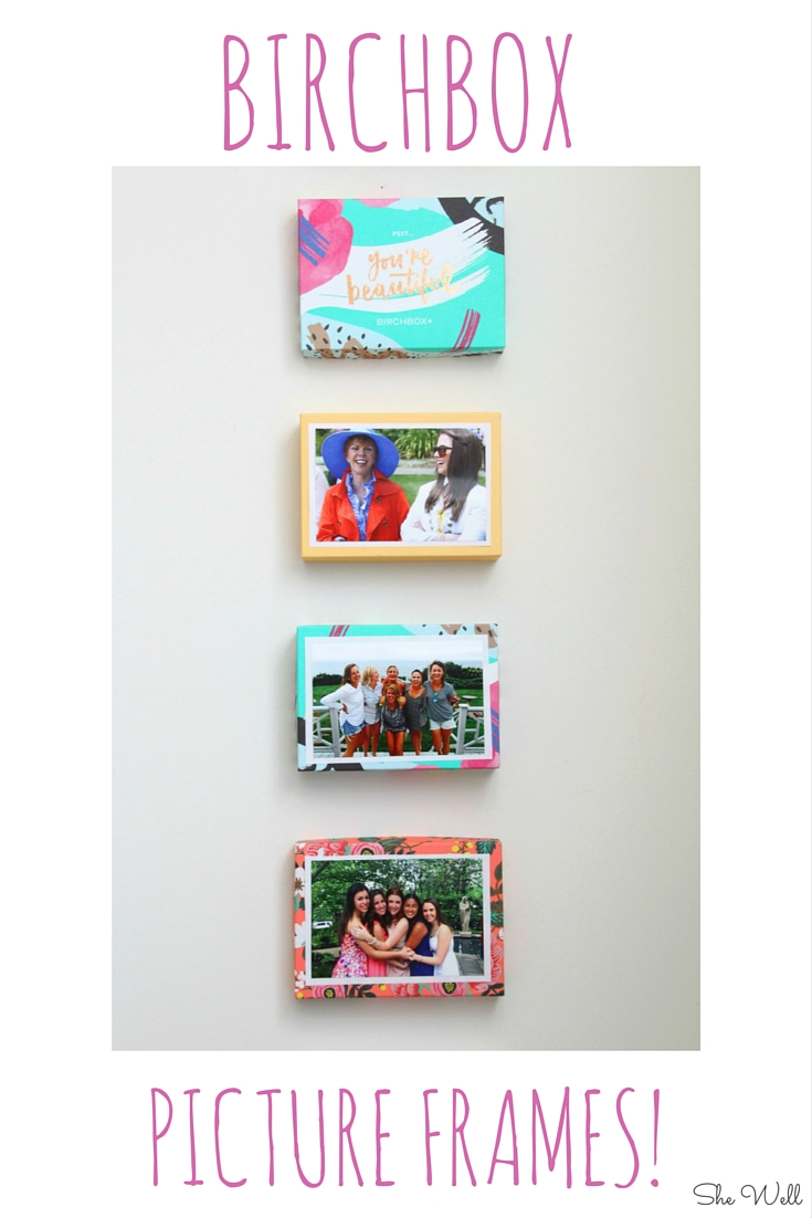 Diy birchbox picture frames she well diy birchbox picture frames jeuxipadfo Image collections