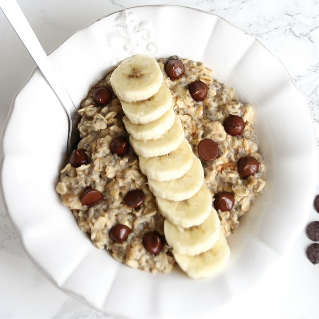 Chunky Monkey Morning Oats - She Well // Vegan