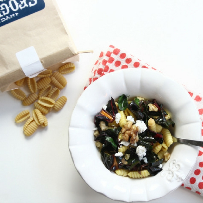 Rainbow Chard Pasta Bowls from She Well