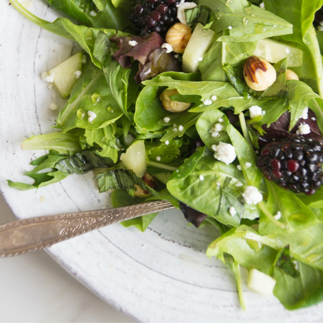 Blackberry Salad with Toasted Hazelnuts from She Well