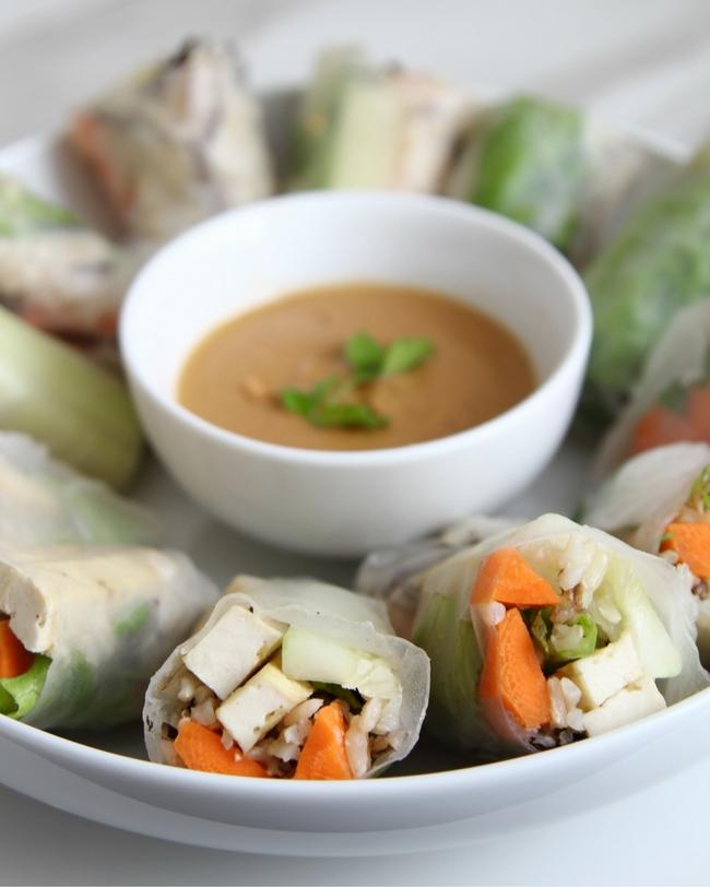 Thai Rolls Spicy Peanut Sauce