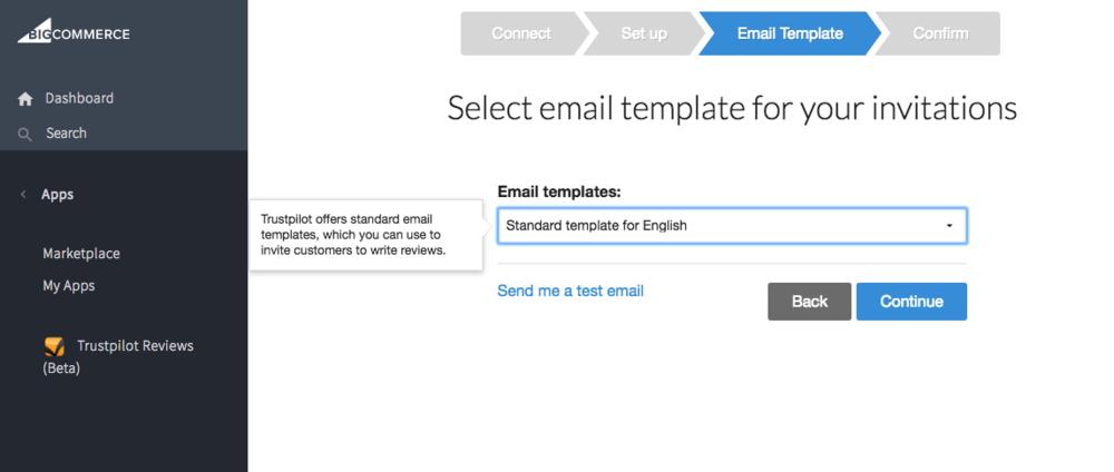 trustpilot bigcommerce emailskabelon