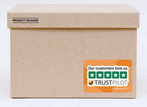 Trustpilot produkt, kasse