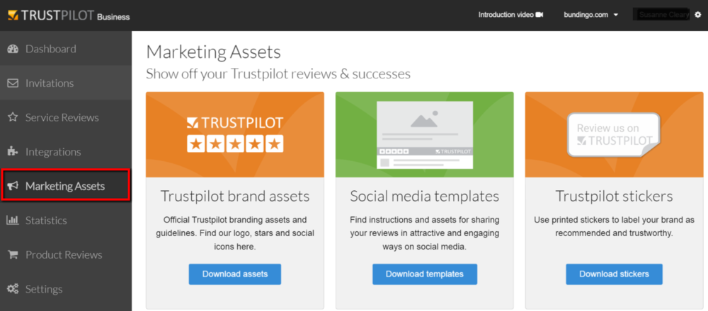 Trustpilot Marketing Assets, marketingmateriale