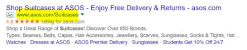Eksempel på en kort og relevant webadresse